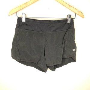 Lululemon Run Times Black Shorts Size 2